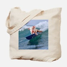 Surfing hot pig Tote Bag