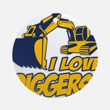 I Love Diggers! Ornament (Round)