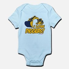 I Love Diggers! Infant Bodysuit