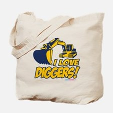 I Love Diggers! Tote Bag