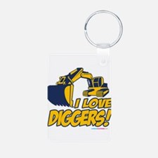 I Love Diggers! Keychains
