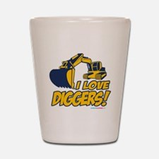 I Love Diggers! Shot Glass