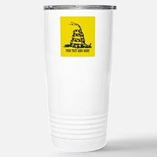 Personalized Dont Tread on Me Travel Mug