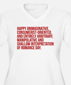Anti Valentines Day Plus Size T-Shirt