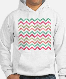 Bright Glitter Teal Coral Emeral Hoodie