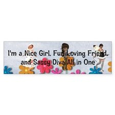 Fun Girl Triple Play Bumper Sticker
