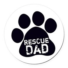 Rescue Dad Round Car Magnet