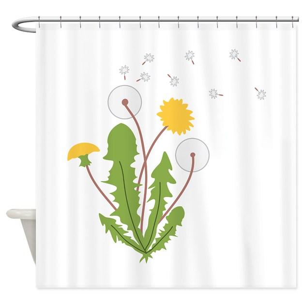 dandelion shower curtain by hopscotch3