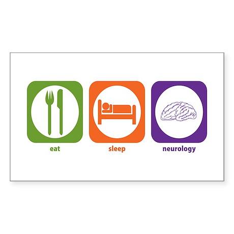 Eat Sleep Neurology Rectangle Sticker