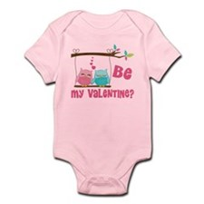 Be My Valentine Owls Body Suit