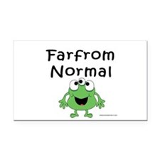 FAR FROM NORMAL 3-EYED FROG Rectangle Car Magnet