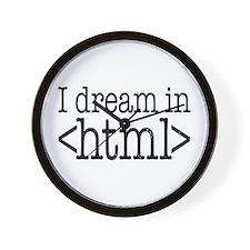 Dream in HTML Wall Clock