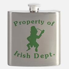 Property Of Irish Dept Flask