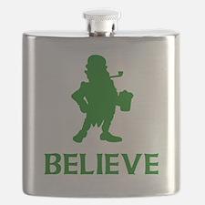 Believe Leprechaun Flask