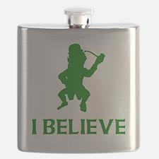 I Believe In Leprechauns Flask