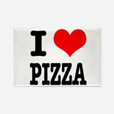 I Heart (Love) Pizza Rectangle Magnet (10 pack)
