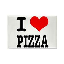 I Heart (Love) Pizza Rectangle Magnet