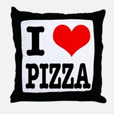 I Heart (Love) Pizza Throw Pillow