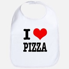 I Heart (Love) Pizza Bib
