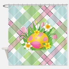 EASTER PLAID Shower Curtain