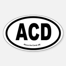 Above the Canal Sticker (Oval)