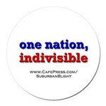 One Nation Indivisible Round Car Magnet