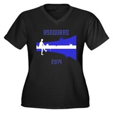 Honduras World Cup 2014 Women's Plus Size V-Neck D