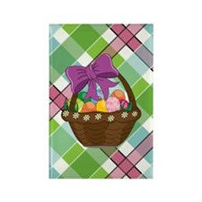 EASTER PLAID Rectangle Magnet