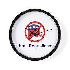 I Hate Republicans Wall Clock