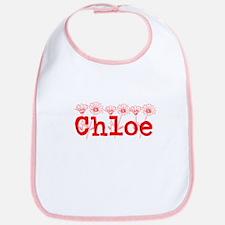 Red Chloe Name Bib