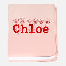 Red Chloe Name baby blanket