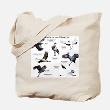 Cranes of the World Tote Bag