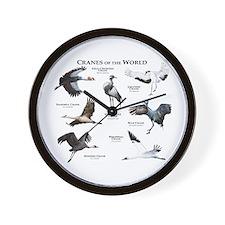 Cranes of the World Wall Clock