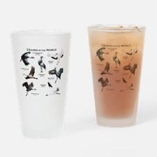 Cranes of the World Drinking Glass