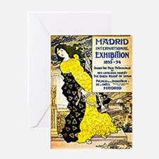 Vintage 1893-94 Madrid International Greeting Card