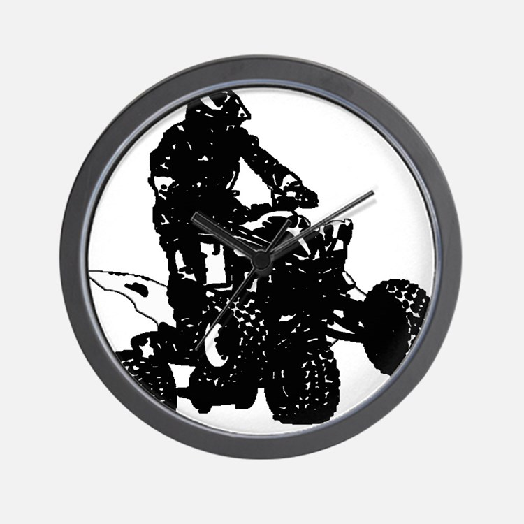atv blck Wall Clock