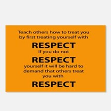 teach other to respect you Postcards (Package of 8