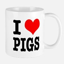 I Heart (Love) Pigs Mug