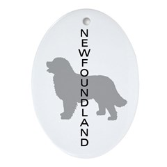 Newfoundland Dog Oval Ornament