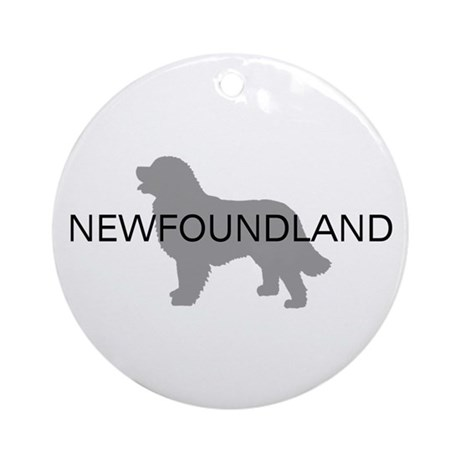 Newfoundland Dog Ornament (Round)