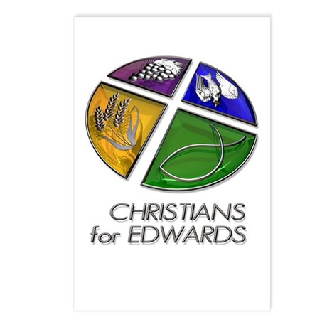 Christians for Edwards Postcards (Package of 8)