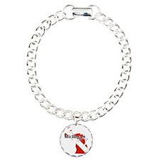 Michigan Diver Charm Bracelet, One Charm