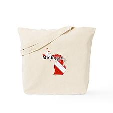 Michigan Diver Tote Bag