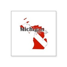 "Michigan Diver Square Sticker 3"" x 3"""