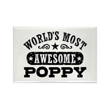 World's Most Awesome Poppy Rectangle Magnet