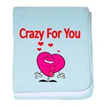 Crazy For You 3 baby blanket