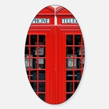 Two British Phone Boxes Decal