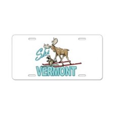 Ski Vermont Aluminum License Plate