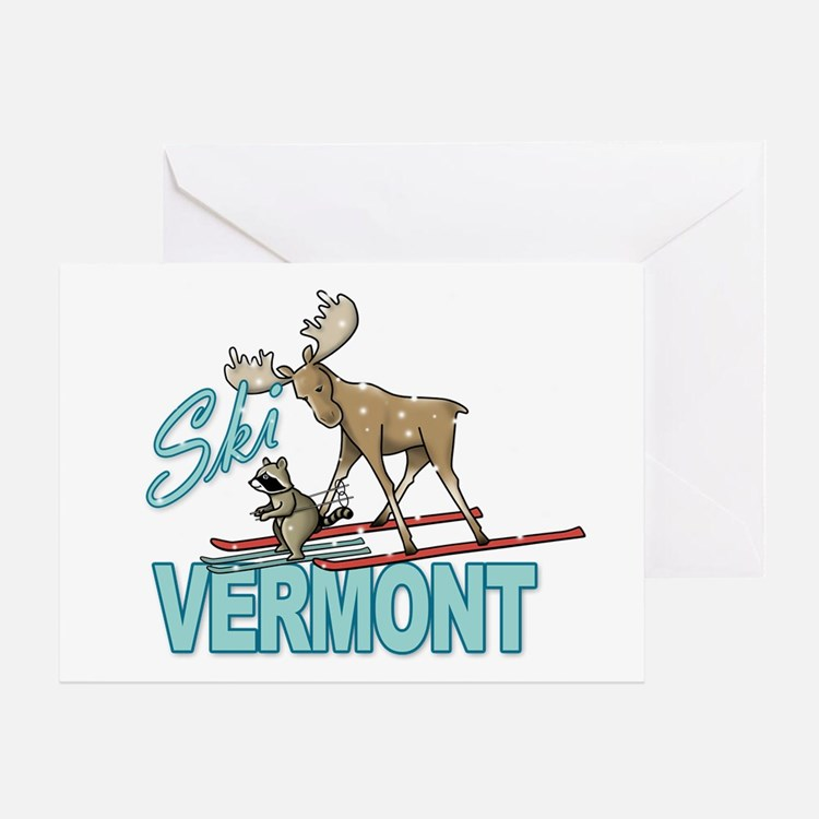 Ski Vermont Greeting Cards