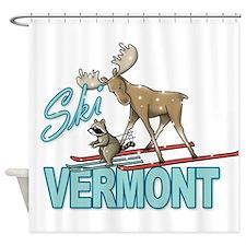 Ski Vermont Shower Curtain